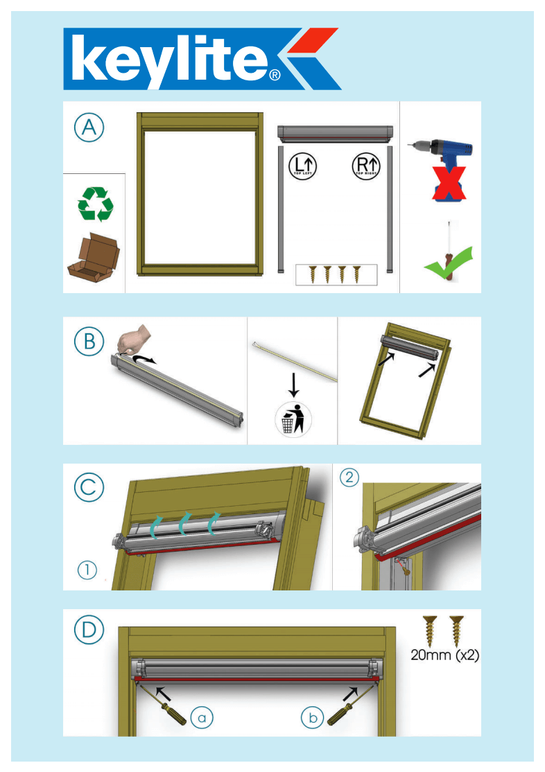 Keylite Manual Blind Installation Guide Image