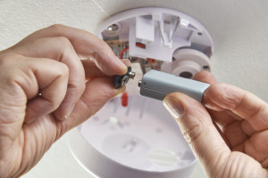 Replace smoke alarm batteries