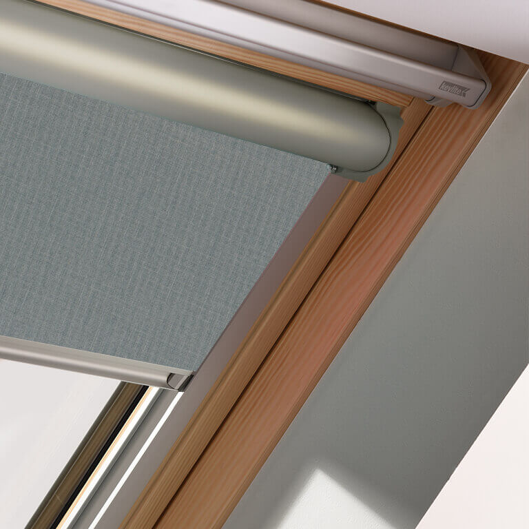 Keylite Blinds - solar powered blackout blind in Fossil Grey